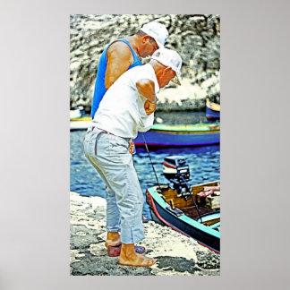 Maltese Fishermen (1) Print