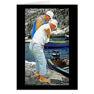 Maltese Fishermen (2) Card