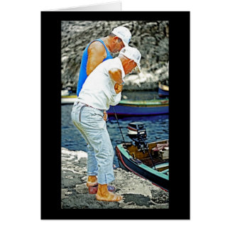 Maltese Fishermen (2) Greeting Card