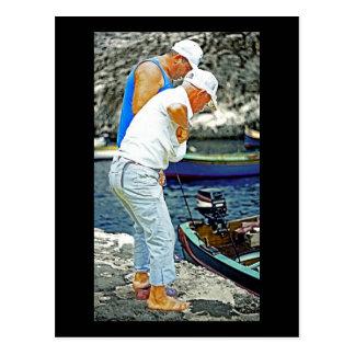 Maltese Fishermen (2) Postcard