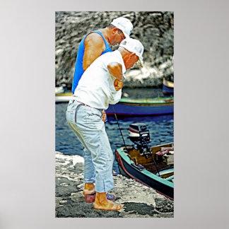 Maltese Fishermen (2) Posters