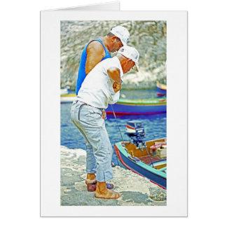 Maltese Fishermen (3) Card