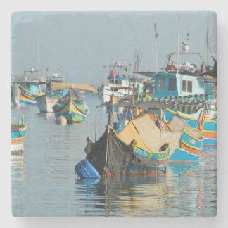 Maltese Fishing Boats | Marsaxlokk In Malta Stone Coaster
