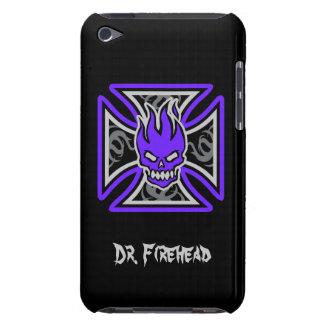 Maltese Flaming Skull Customizable iPod Touch Case