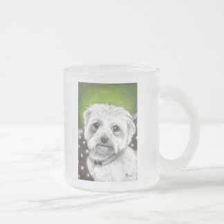 Maltese Frosted Glass Coffee Mug