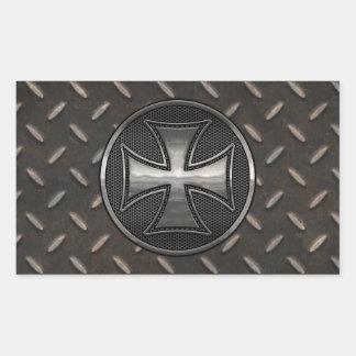 Maltese Gridiron Rectangular Sticker