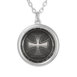Maltese Gridiron Silver Plated Necklace