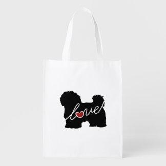 Maltese / Havanese Love Grocery Bag