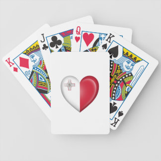 Maltese Heart Flag on White Playing Cards