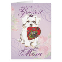 Maltese Heart Mom Card