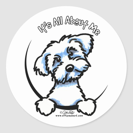Maltese Its All About Me Classic Round Sticker