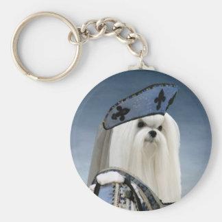Maltese Keychain Nobility Dogs Gift