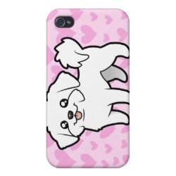 Case Savvy iPhone 4 Matte Finish Case with Maltese Phone Cases design