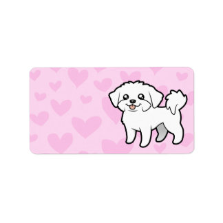 Maltese Love (puppy cut) Personalized Address Labels