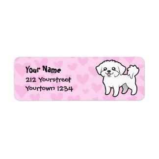 Maltese Love (puppy cut) Return Address Label