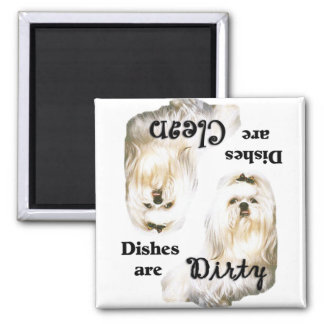 Maltese Lovers Dishwasher Magnet