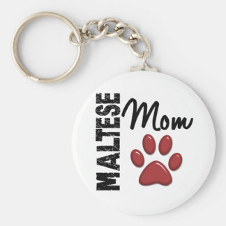 Maltese Mom 2 Keychain