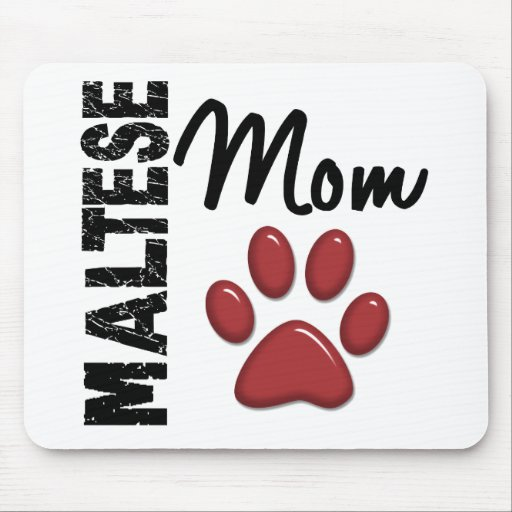 Maltese Mom 2 Mouse Pad