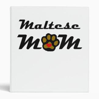 Maltese Mom Vinyl Binder