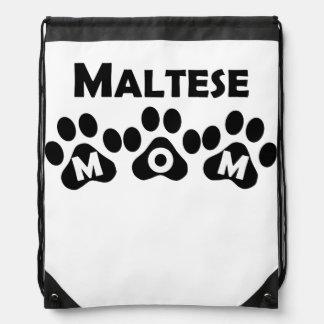 Maltese Mom Drawstring Backpack