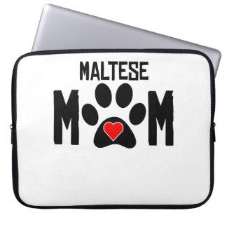 Maltese Mom Laptop Sleeve