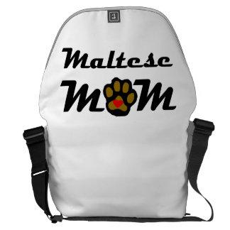 Maltese Mom Messenger Bags