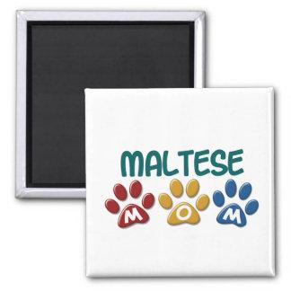 MALTESE Mom Paw Print 1 Magnets