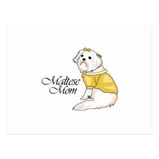 MALTESE MOM POSTCARD