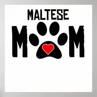 Maltese Mom Print