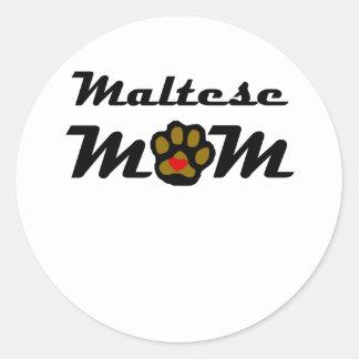 Maltese Mom Round Sticker