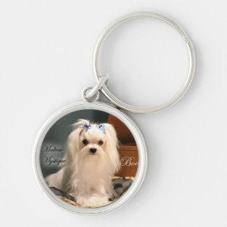 Maltese Mystique dog, Boo Keychain