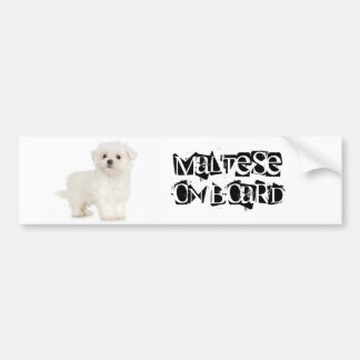 Maltese on Board Bumper Sticker