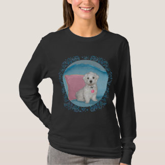 Maltese on Turquoise T-Shirt