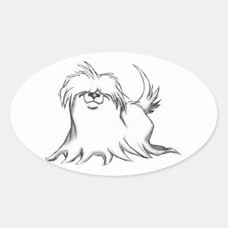 Maltese Oval Sticker