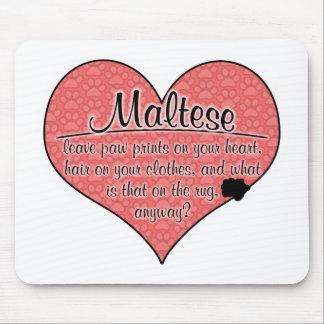 Maltese Paw Prints Dog Humor Mouse Pad