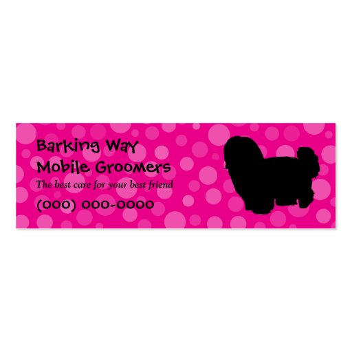 Maltese Pet Care Pink Business Card Template