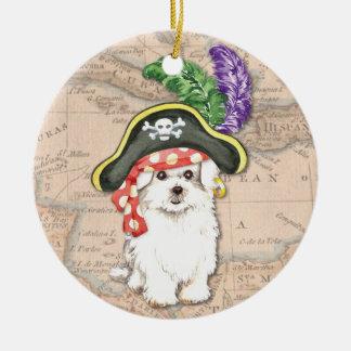Maltese Pirate Ceramic Ornament