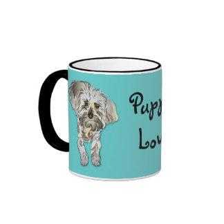 Maltese Poodle Mixed - Puppy Love Ringer Mug
