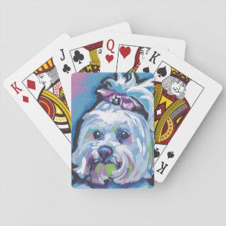 Maltese Pop Dog  Art Card Decks