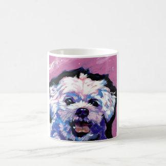 Maltese Pop Dog  Art Classic White Coffee Mug