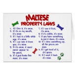 MALTESE Property Laws 2 Greeting Card