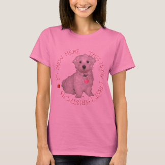 Maltese Pup First Christmas T-Shirt
