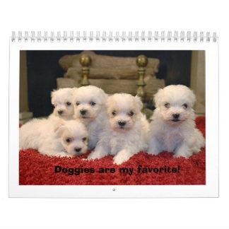 Maltese Puppies Wall Calendar