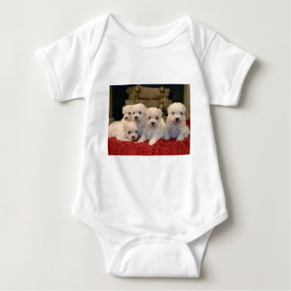 Maltese Puppies for Puppy Lovers Everywhere Baby Bodysuit