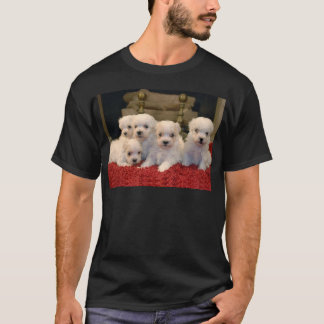 Maltese Puppies for Puppy Lovers Everywhere T-Shirt