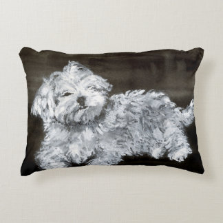 Maltese Puppy Accent Pillow