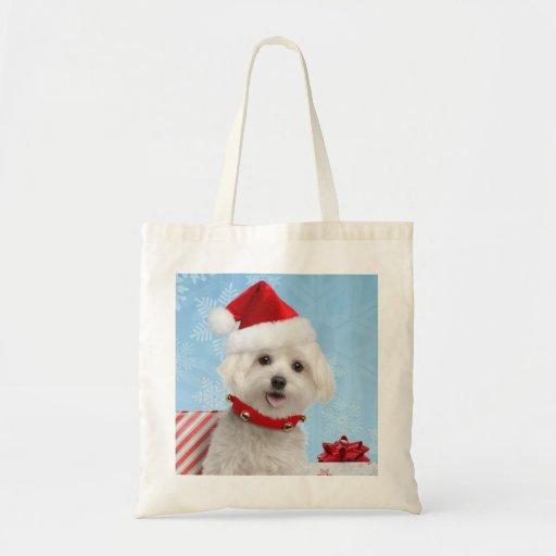 Maltese Puppy Christmas Bag