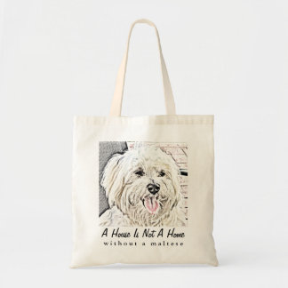 Maltese Puppy Collectible Tote Bag