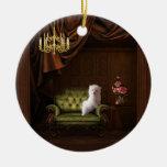 Maltese Puppy Dog Chandelier Tree Ornament