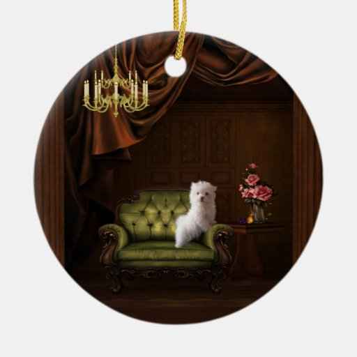 Maltese Puppy Dog Ornament